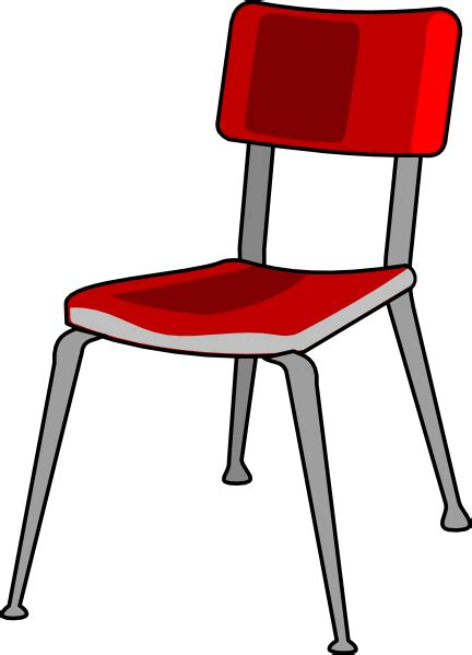 Red Student Desk Chair Clip Art At Clker Com Vector Clip Student In Desk Clipart