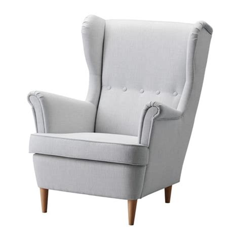strandmon ikea strandmon wing chair nordvalla light gray ikea