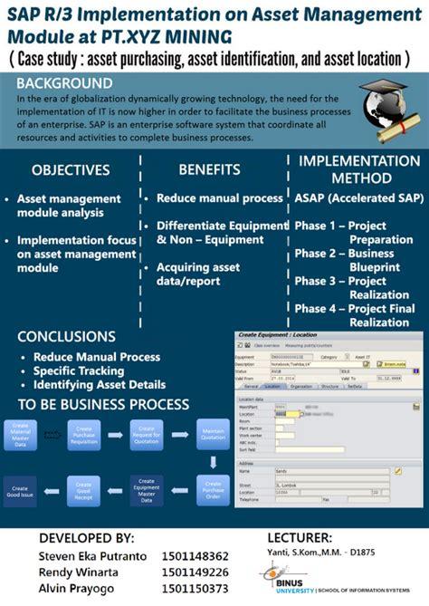 sap r 3 implementation on asset management module at pt xyz mining study asset