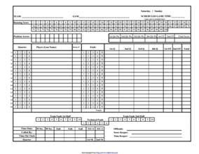 Basketball Score Sheet Template by Basketball Score Sheet Free Create Edit Fill