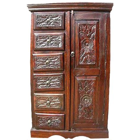 Wooden Armoire Cabinets by Solid Wood Rustic Armoire Wardrobe Cabinet