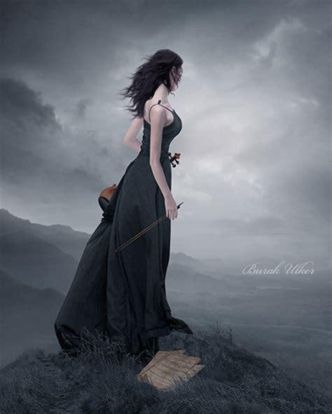 Dress Glow Violin drowning in memories by burakulker on deviantart