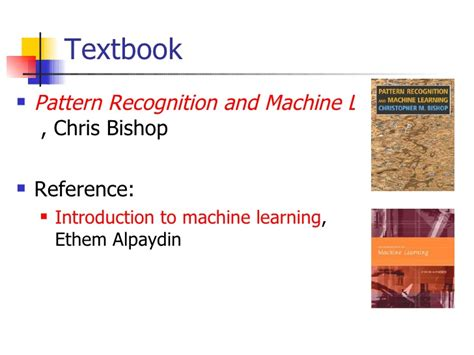 pattern recognition book bishop pattern recognition and machine learning christopher m