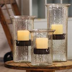 large glass candle hurricanes from kalalou