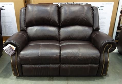 costco berkline reclining leather loveseat 949 99