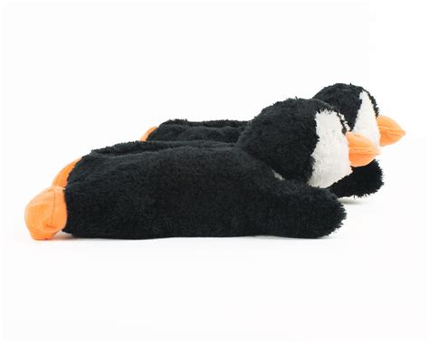 penguin house shoes fuzzy penguin slippers animal slippers