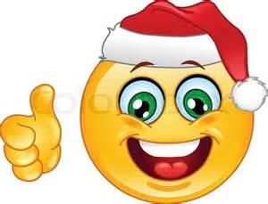 Weihnachten emoticon mit daumen stock vektor colourbox