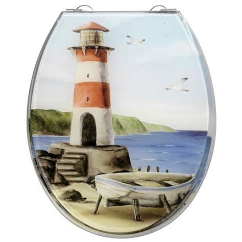 Lighthouse Plumbing by Wenko Lighthouse Made Polyresin Toilet Seat