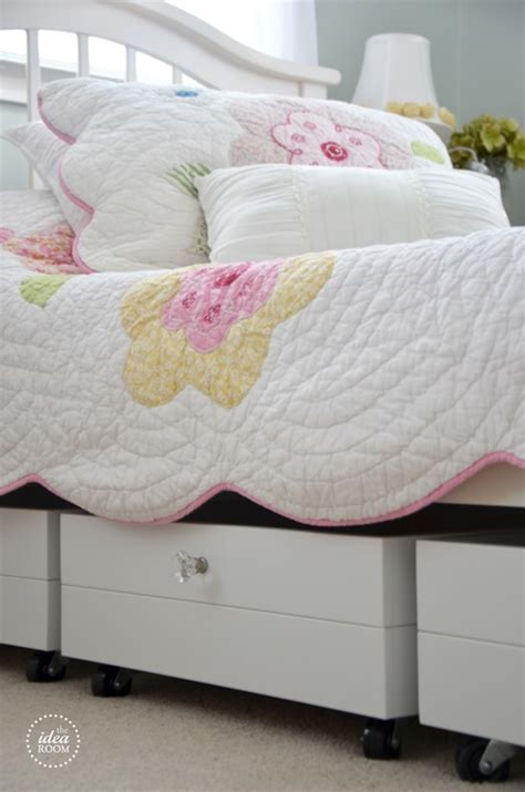 rolling under bed storage drawers clever bed designs with integrated storage for max efficiency