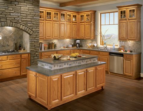 Kitchens With Light Oak Cabinets Light Oak Cabs With Grey Counter Kitchen Pinterest Light Oak Gray And Lights