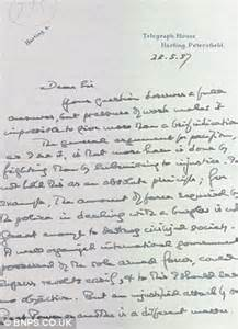 Invitation Letter For Birthday To Friend In German Letter From Pacifist Bertrand About Set To Sell For 163 300 Daily Mail