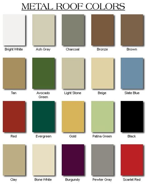 tin roof colors how to the right metal roof color consumer guide 2019
