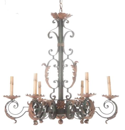 French 19th Century Painted Iron Chandelier For Sale At Painted Chandeliers