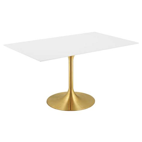 odyssey dining table odyssey 60 quot rectangle gold modern dining table eurway