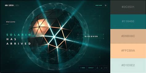 futuristic colors 29 beautiful color schemes from award winning websites