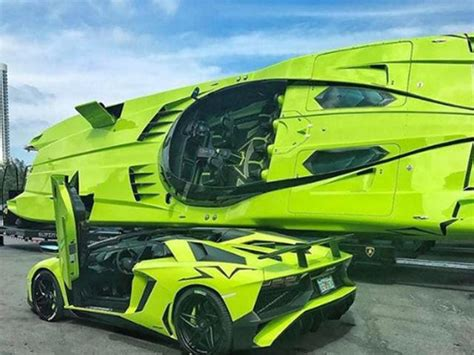 lamborghini boat horsepower lamborghini aventador sv and matching speedboat on sale