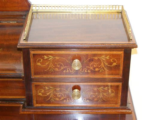 late 19th century cherry inlaid a late 19th century edwards and mahogany and inlaid writing desk melford