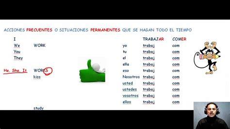 que se ignifica pattern en español presente simple explicacion en espa 241 ol youtube