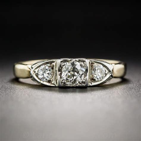 22 carat center vintage engagement ring