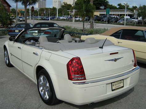chrysler car white file 2008 chrysler 300 white convertible in florida rear