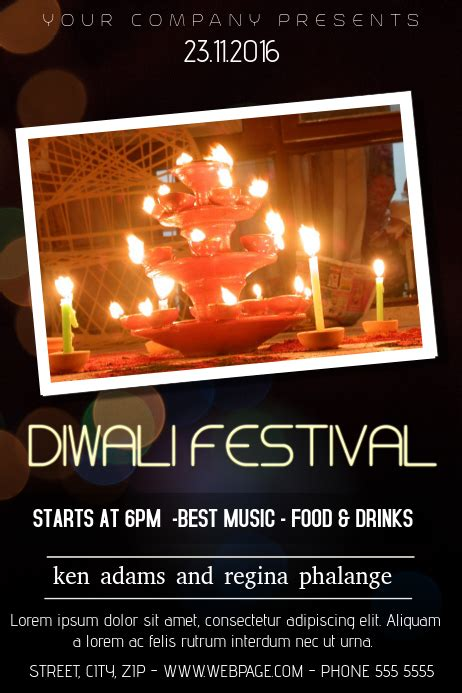 copy  diwali festival flyer template postermywall