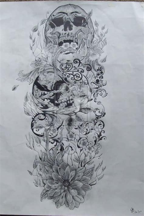 black and white skull tattoo designs 24 black and white leg tattoos