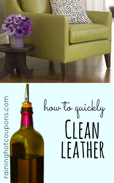 how to easily and quickly clean leather furniture