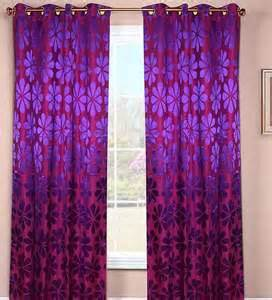 Pink And Purple Curtains Wraps N Drapz Pink And Purple Floral Door Curtain By Wraps N Drapz Nature And Florals