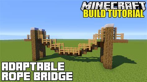 bridge tutorial construct 2 minecraft how to build a hanging rope bridge tutorial