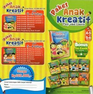 Harga Buku Merekat paket anak kreatif paud tk baca tulis hitung mewarnai