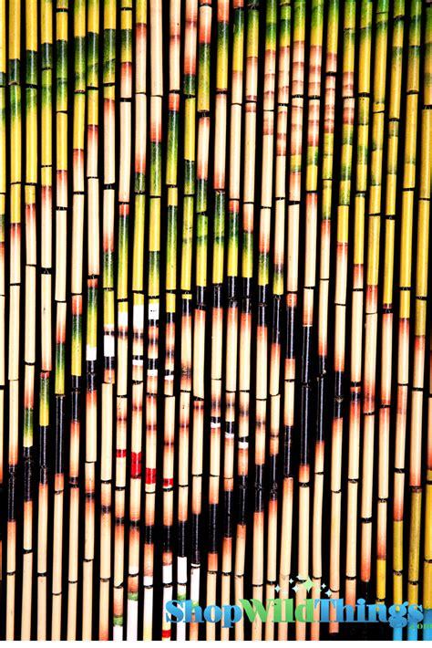 Painted Bamboo Curtains Hawaiian Hula Painted Bamboo Curtain With Curtain