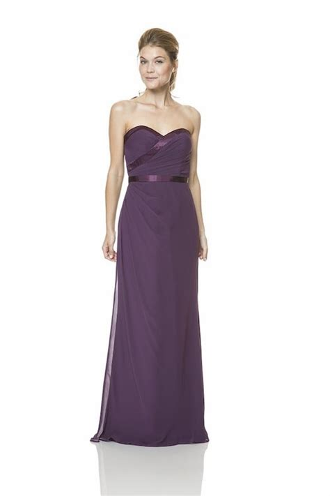 draped formal dress elegant strapless long purple chiffon draped formal