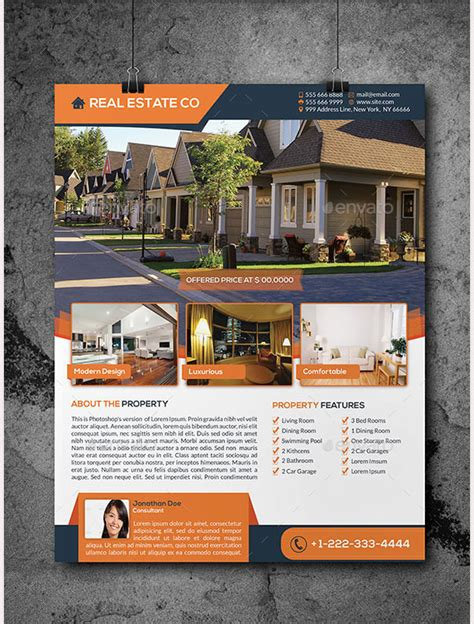 44 Psd Real Estate Marketing Flyer Templates Free Premium Templates Real Estate Flyer Template