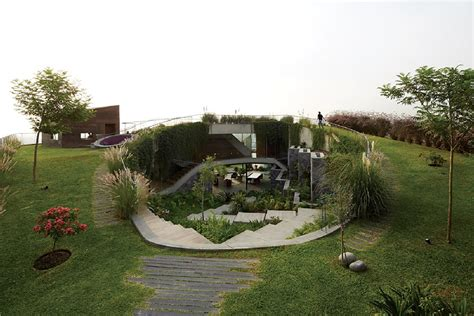 modern green house exuberant green landscape beautifully showcased by