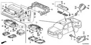 Honda Ridgeline Exhaust System Diagram Honda Store 2007 Ridgeline Interior Light Parts
