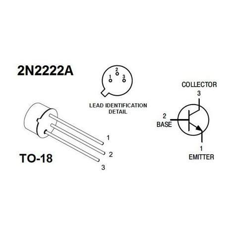 datasheet transistor npn 2n2222a transistor 2n2222a