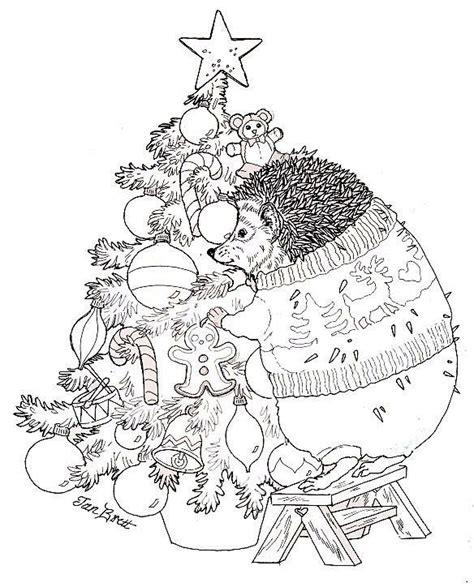 hedgie trims the christmas tree school kerst pinterest