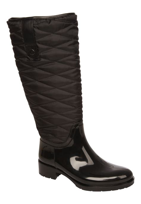 Womens Quilted Wellies peacocks womens quilted welly wellington boots waterproof wellies ebay