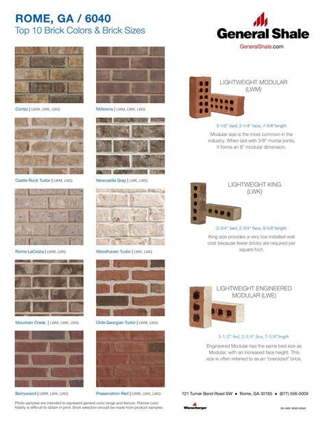 brick mortar color chart rome top 10 brick colors rome ga top 10 brick colors