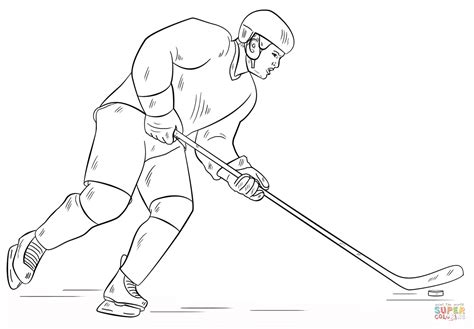 coloring pages of hockey players hockey player coloring page free printable coloring pages