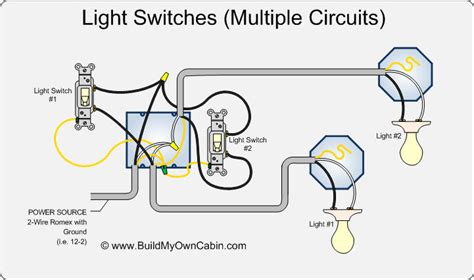 wiring switches to lights diagram