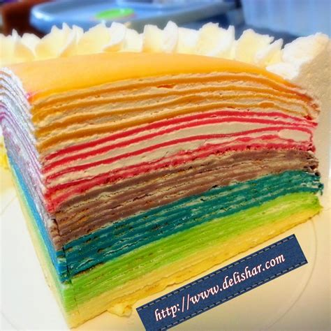 Mille Crepes Cake rainbow mille crepes cake delishar singapore cooking