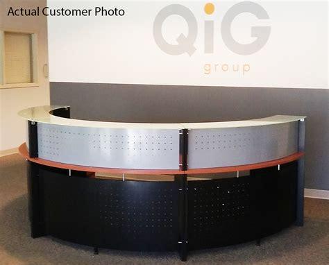 Glass Top Reception Desk Half Glass Top Reception Desk