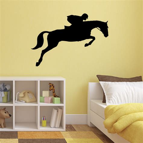 Horse Wall Stickers Uk show jumping horse wall sticker equestrian sports