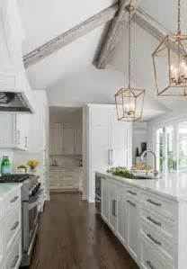 kitchen with vaulted ceilings ideas chic kitchen boasts a gray vaulted ceiling adorned with