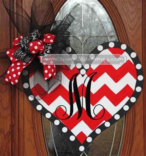 valentines door hanger wood door hanger gift monogram