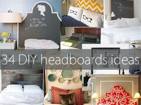 creative home decor ideas pinterest 34 diy headboard ideas