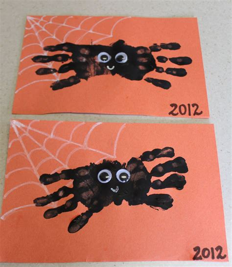 halloween printmaking project art for kids and robots hand print spider halloween craft ipinnedit