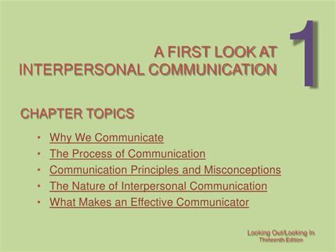Interpersonal Communication Essay Topics by Chapter 1