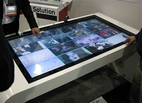digital board table multi touch turns table into collaboration surface intel